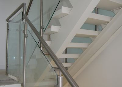Stainless & glass staircase