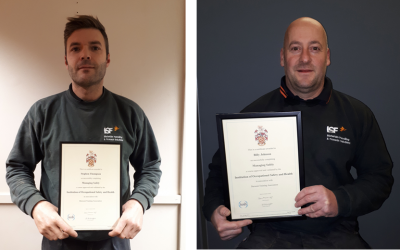 Two of our team complete IOSH Health and Safety training