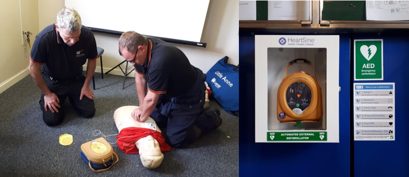 New defibrillators installed at ISF