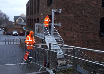 New emergency exit drawbridge fitted to aid flood evacuation